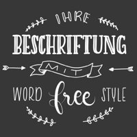 Schrift Word Freestyle
